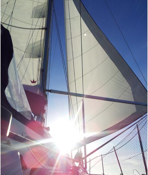 Escapar de ningún sitio, navegando hacia Canarias