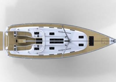 alquiler veleros ibiza bavaria 45 layout