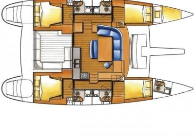 alquiler veleros ibiza lagoon 440 layout
