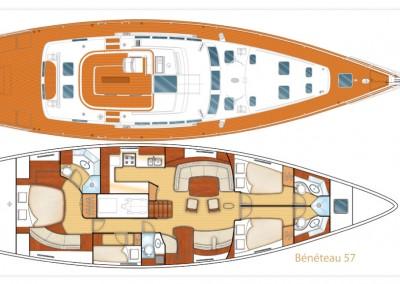 beneteau 57 layout