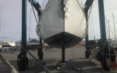 Bow thruster on a sailing boat
