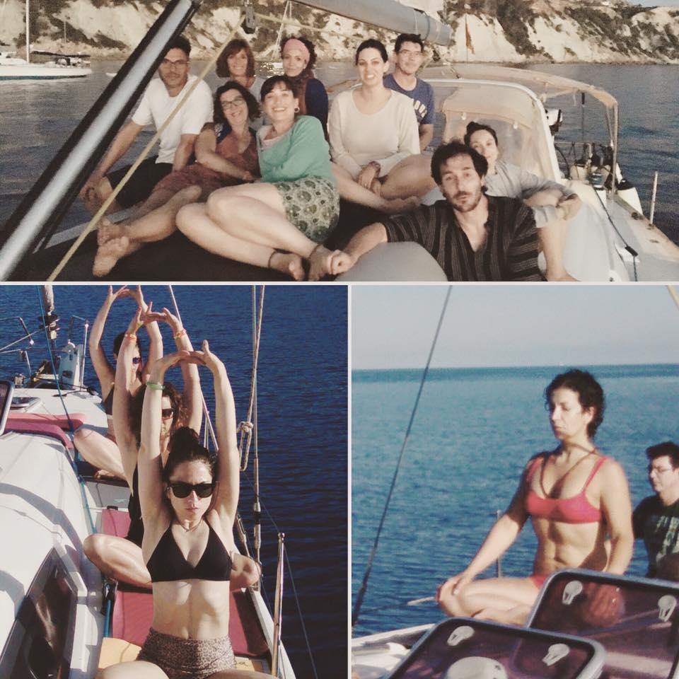 Grupo en barco alqiler de barcos veleros, catamaranes, yates, lanchas motoras, alquiler de embarcaciones en Ibiza y Formentera