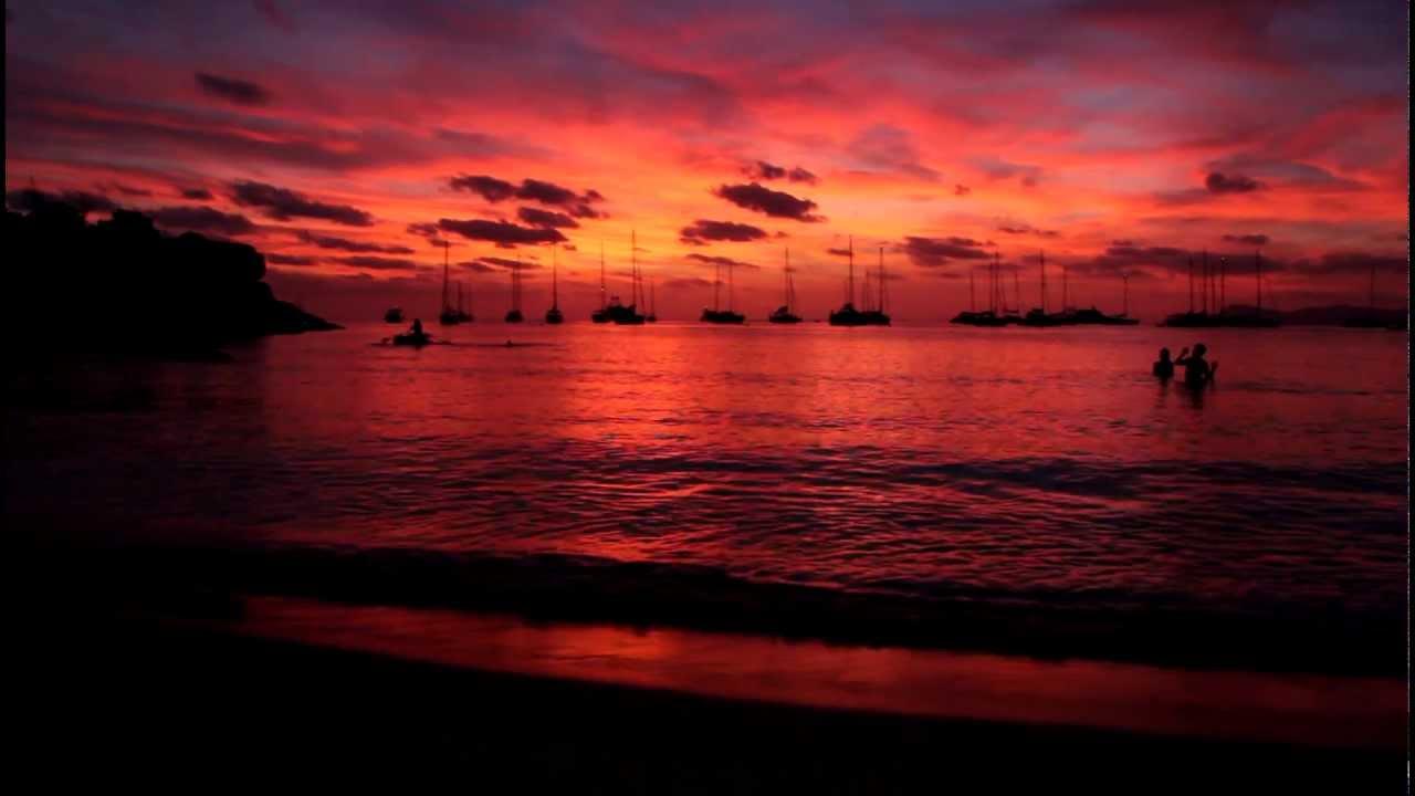 puesta de sol de cala saona