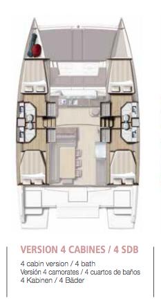 Layout Alquiler de Catamarán Bali 4.3
